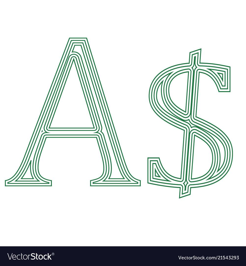 Dollar Australia Currency Symbol Icon Royalty Free Vector