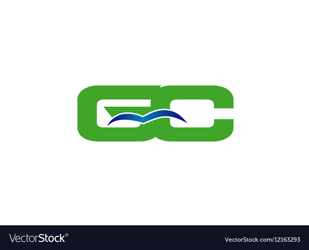 GC initial company group logo vector image