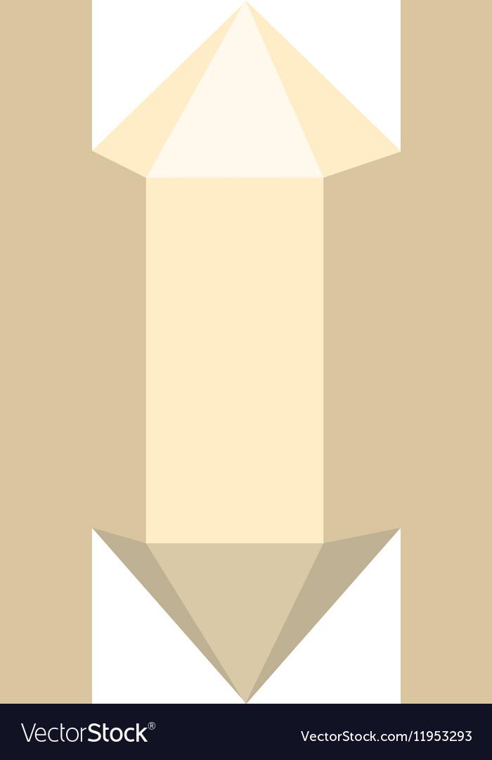 Gemstone diamond colorful stone isolated on white
