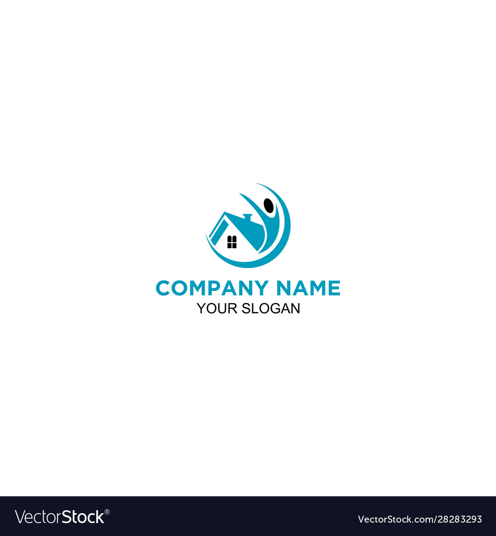 Help House Rent Logo Design Royalty Free Vector Image