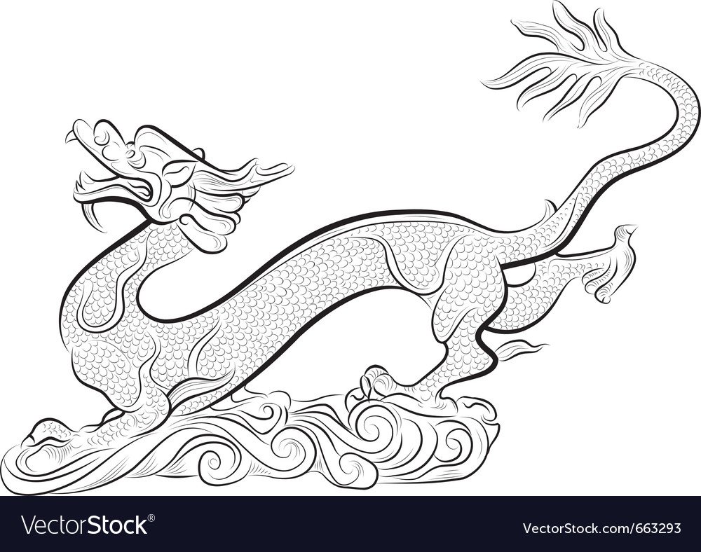 Old chinese traditional dragon
