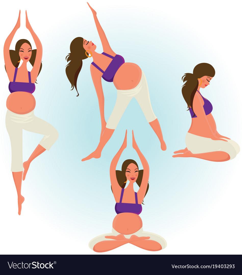 Упражнение для беременных с картинками