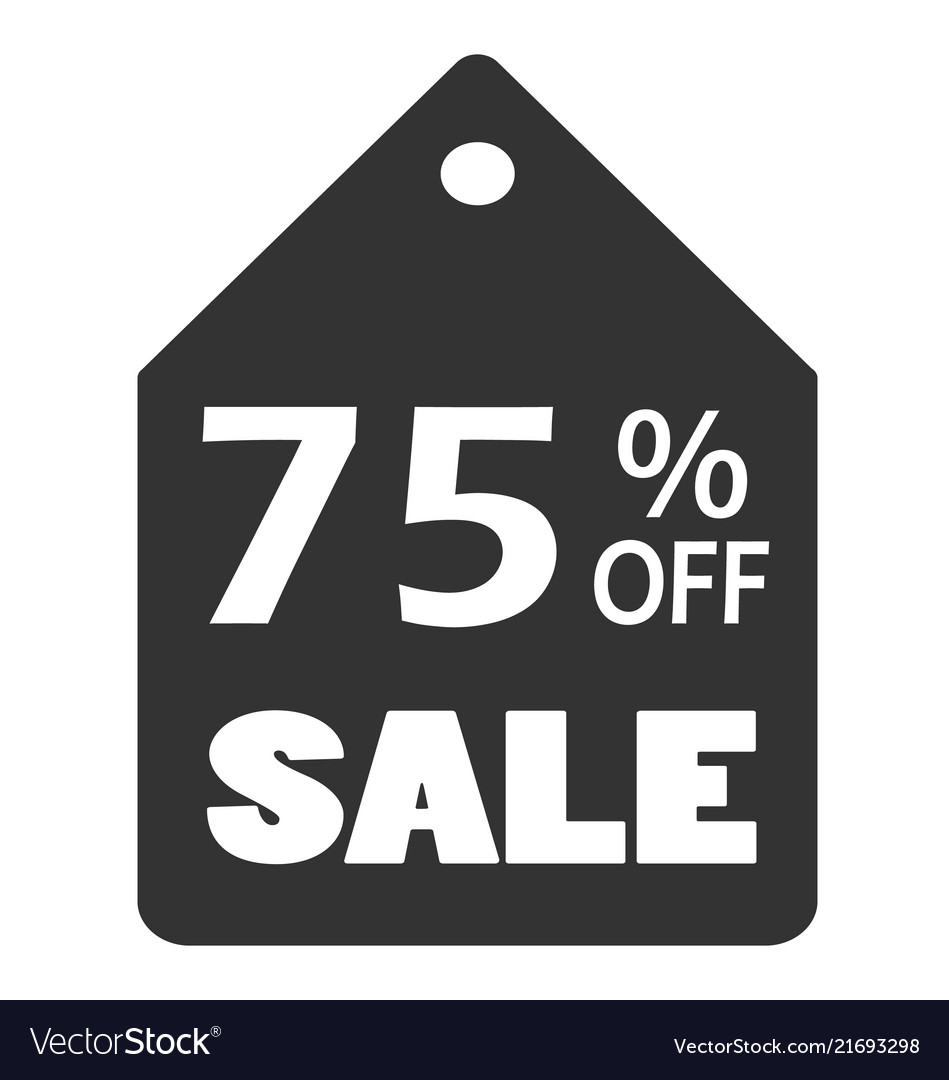 75 off sale discount banner sale discount icon