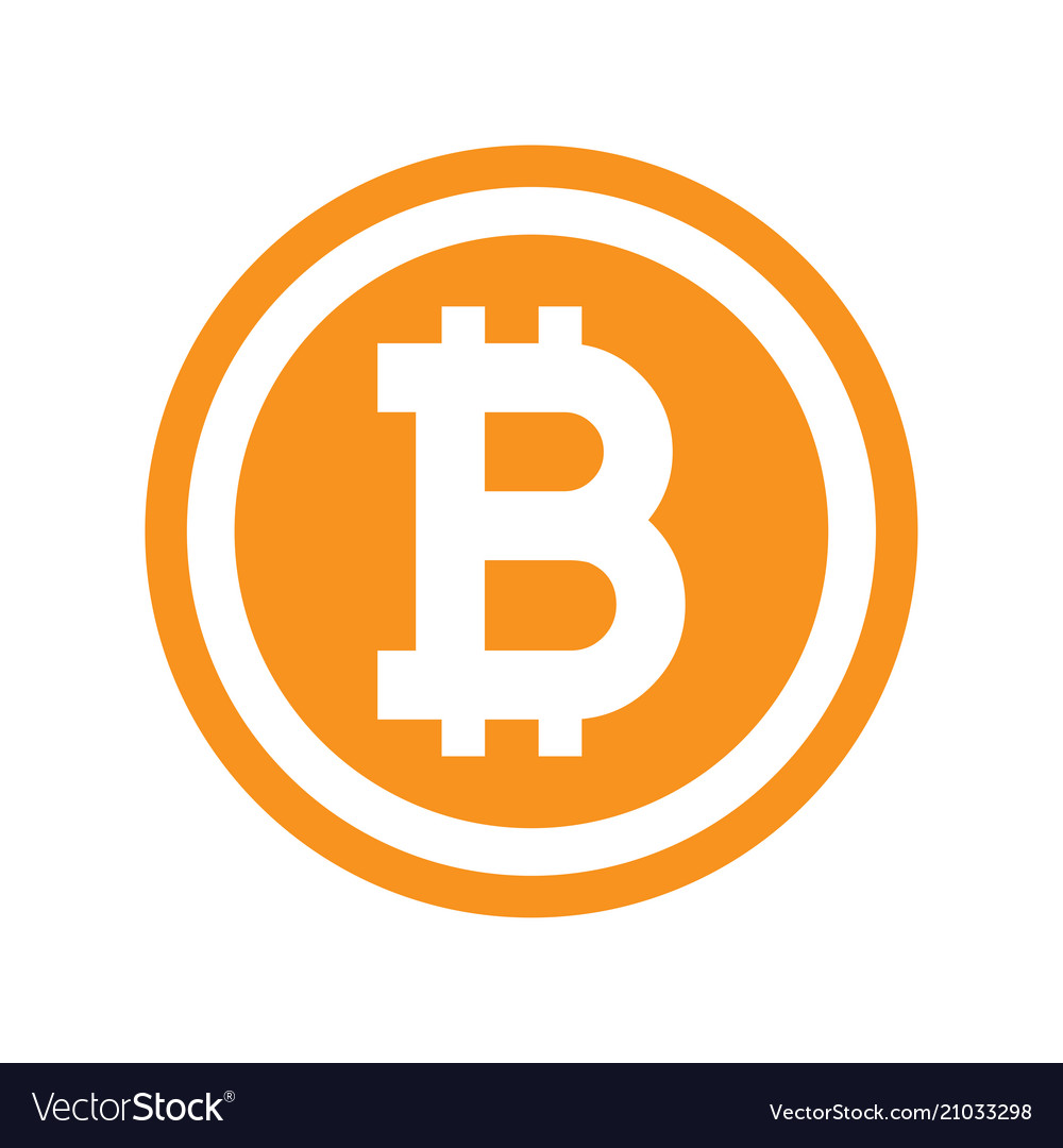 Bitcoin Symbol In Flat Design Royalty Free Vector Image