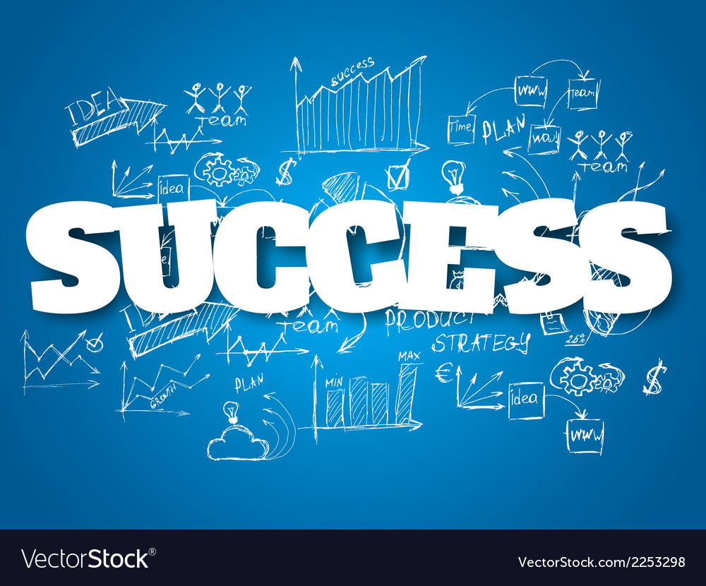 Business background Success concept vector image