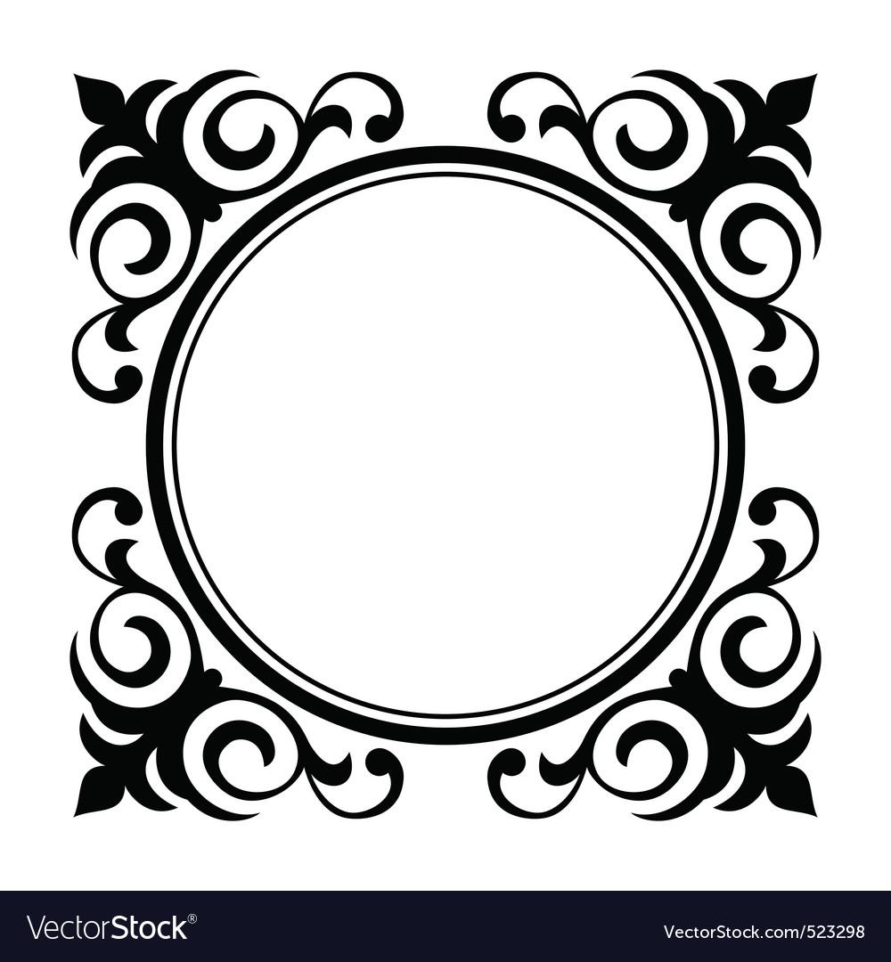 Circle ornamental decorative frame Royalty Free Vector Image