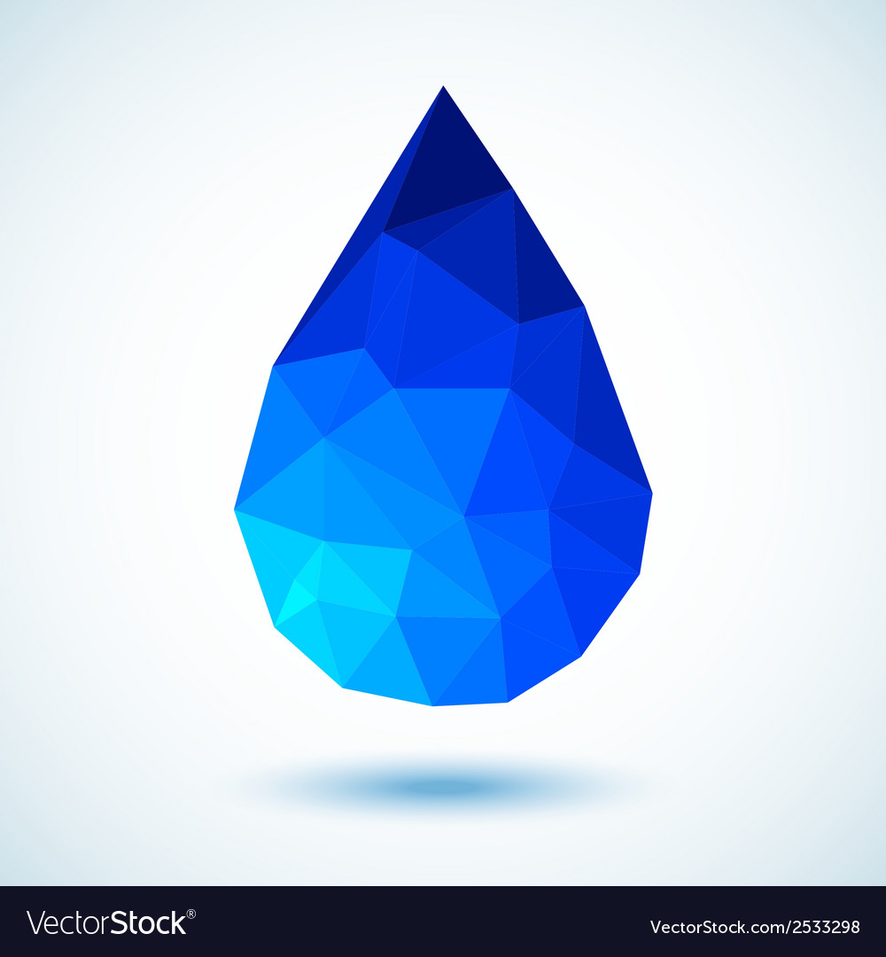 Geometric Blue Drop for your design vector image