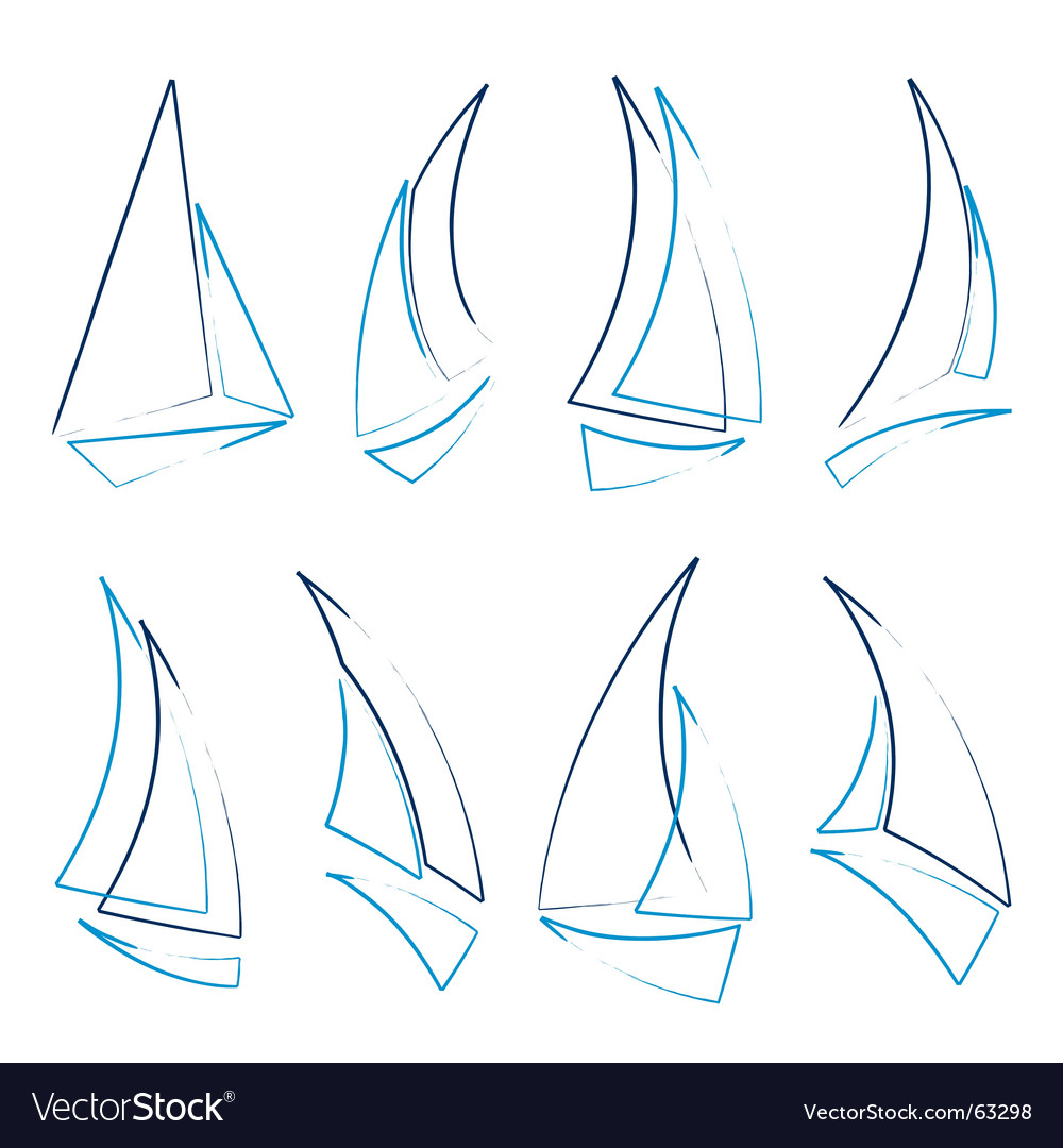 Sailboat icons