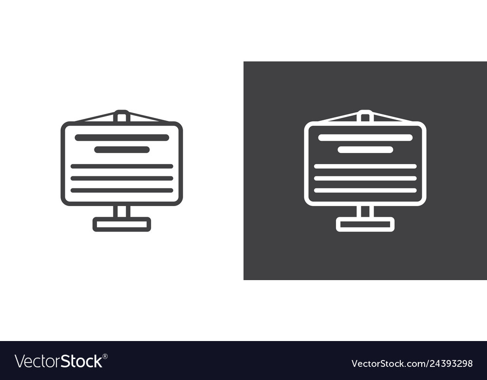 Set of flip chart billboard icons icons of data