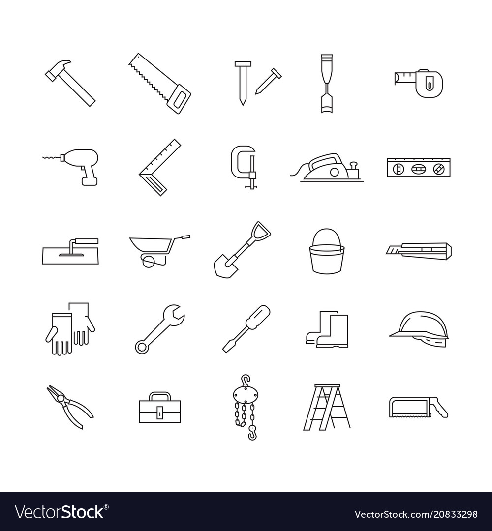 Simple icon working tools