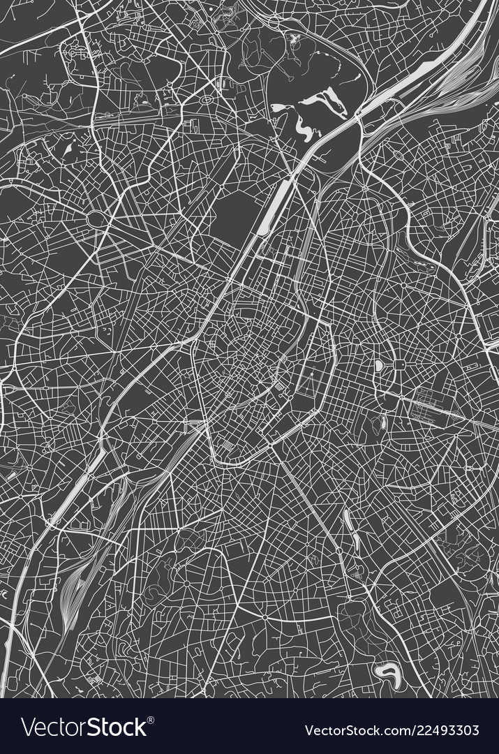 Brussels city plan detailed map