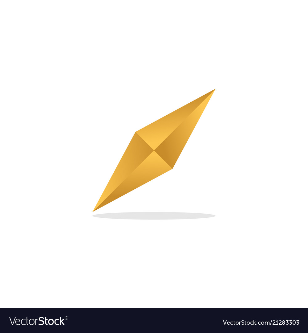 Elegant golden diamond template