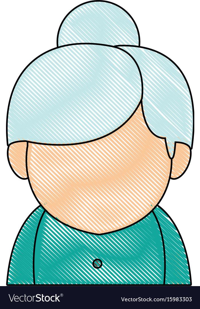 Portrait woman character female avatar image vector image