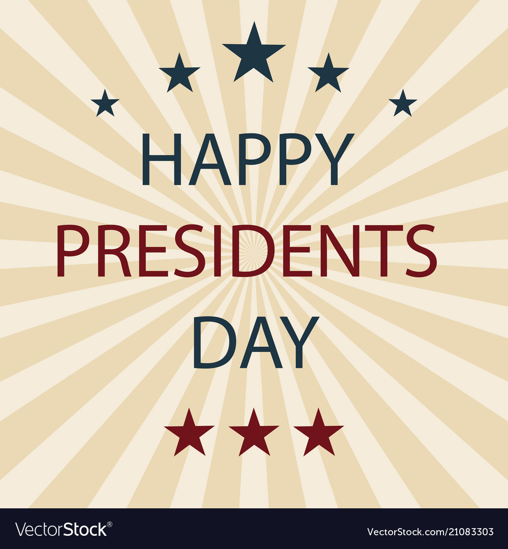 Presidents day retro poster eps10