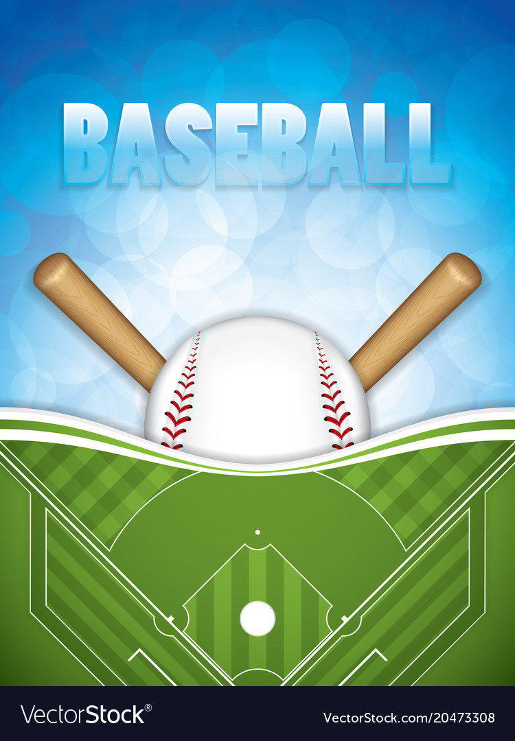 Baseball brochure vector image