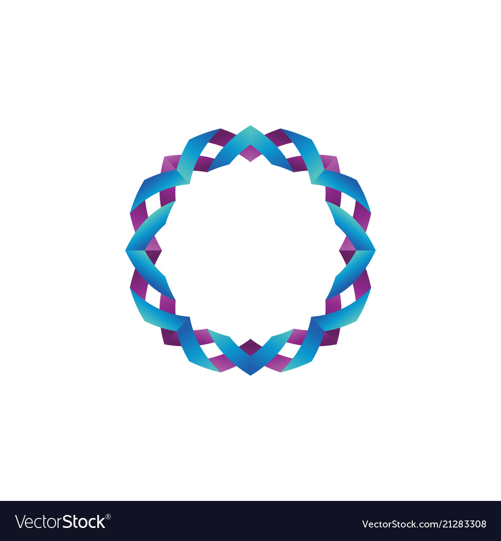 Glossy color ribbon form a circle