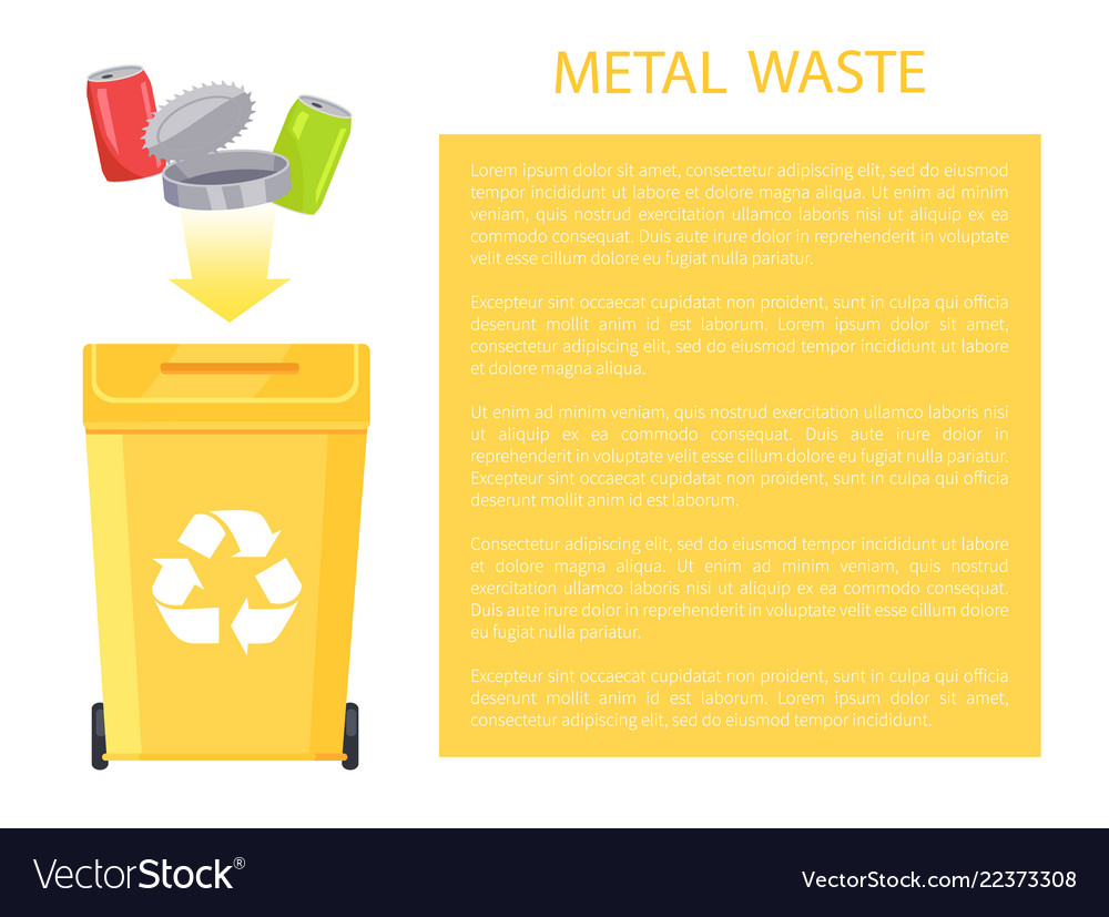 Metal waste poster and text