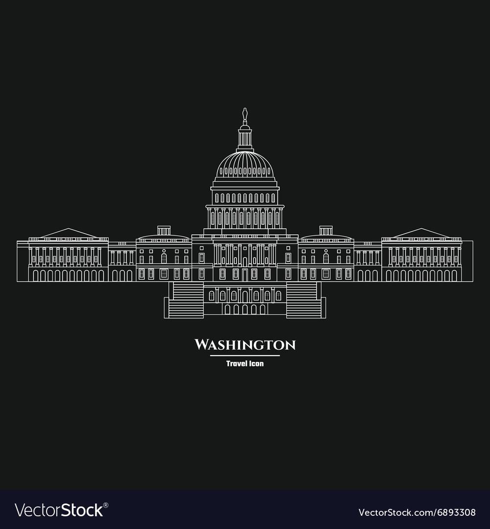 Washington United States Capitol Icon 1