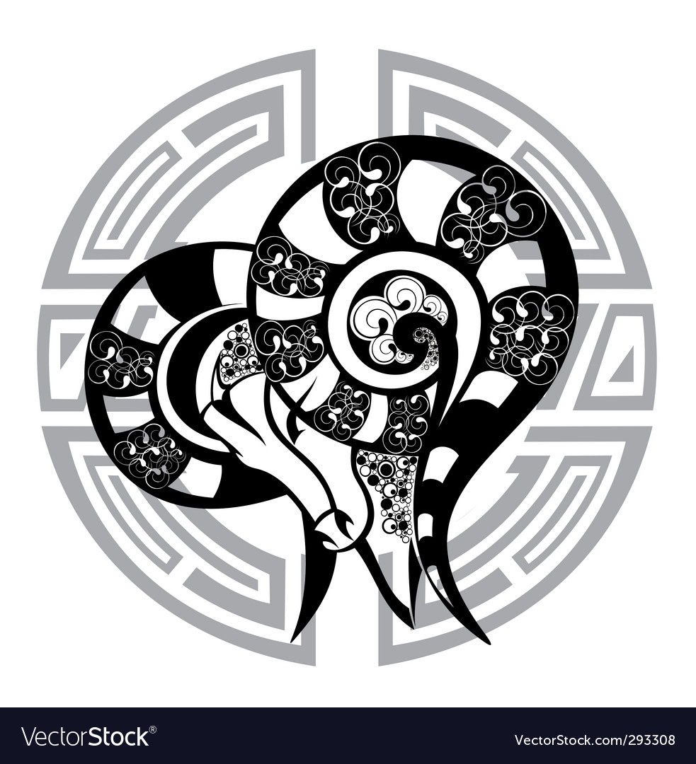Zodiac Signs Aries Royalty Free Vector Image Vectorstock