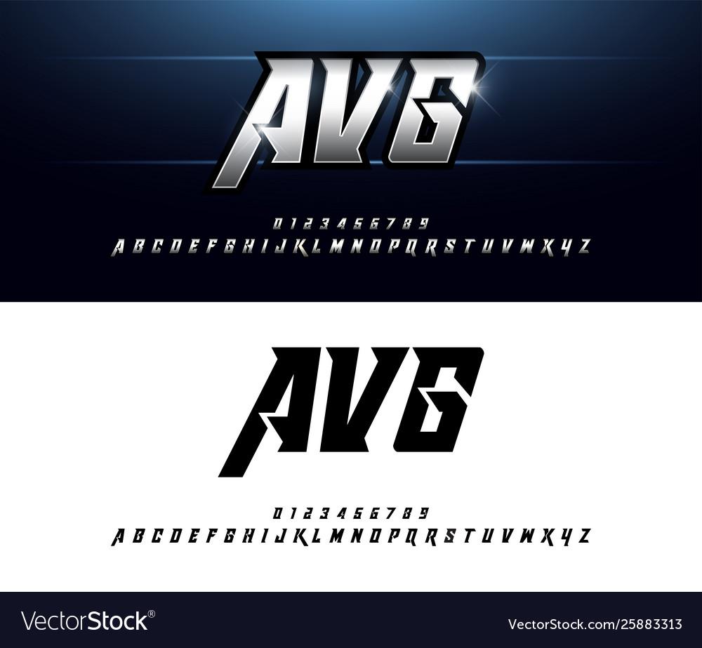 Alphabet silver metallic and effect designs