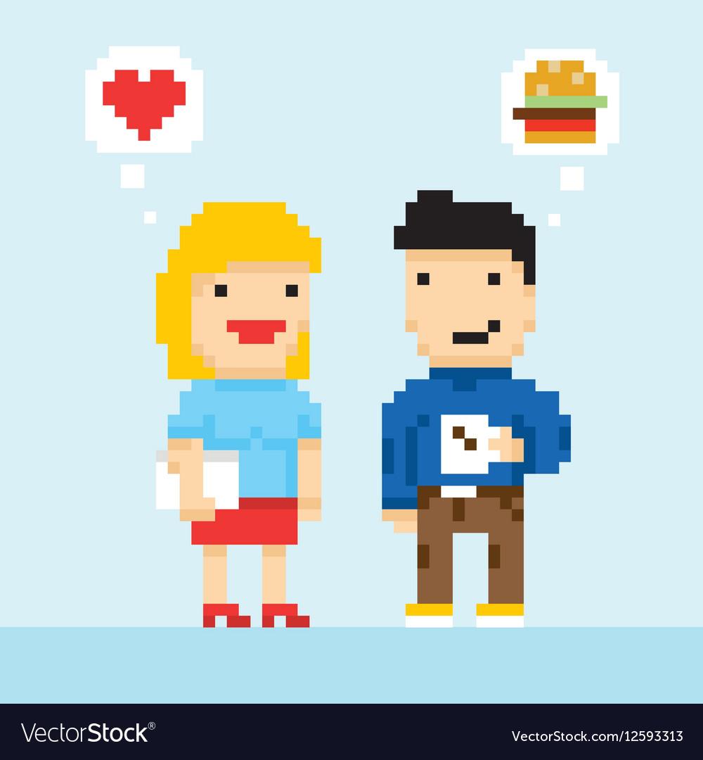 pixel-art-game-style-office-colleagues-in-love-vector-12593313 Pixel Art Game Characters @koolgadgetz.com.info