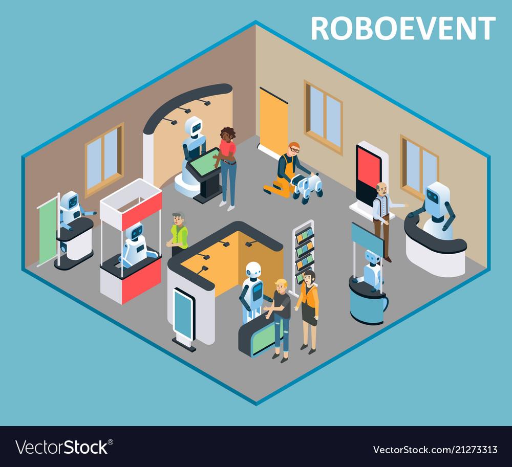 Robots event isometric