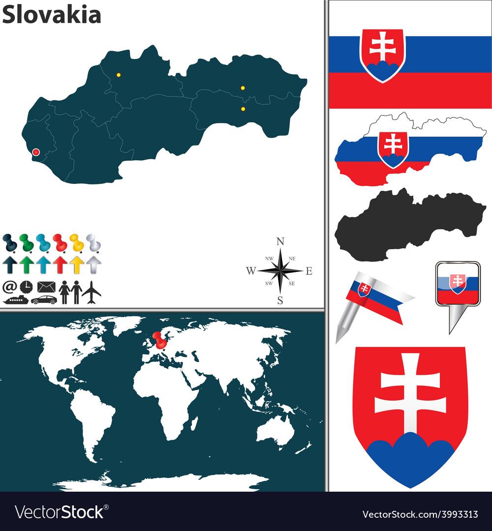 Slovakia map world