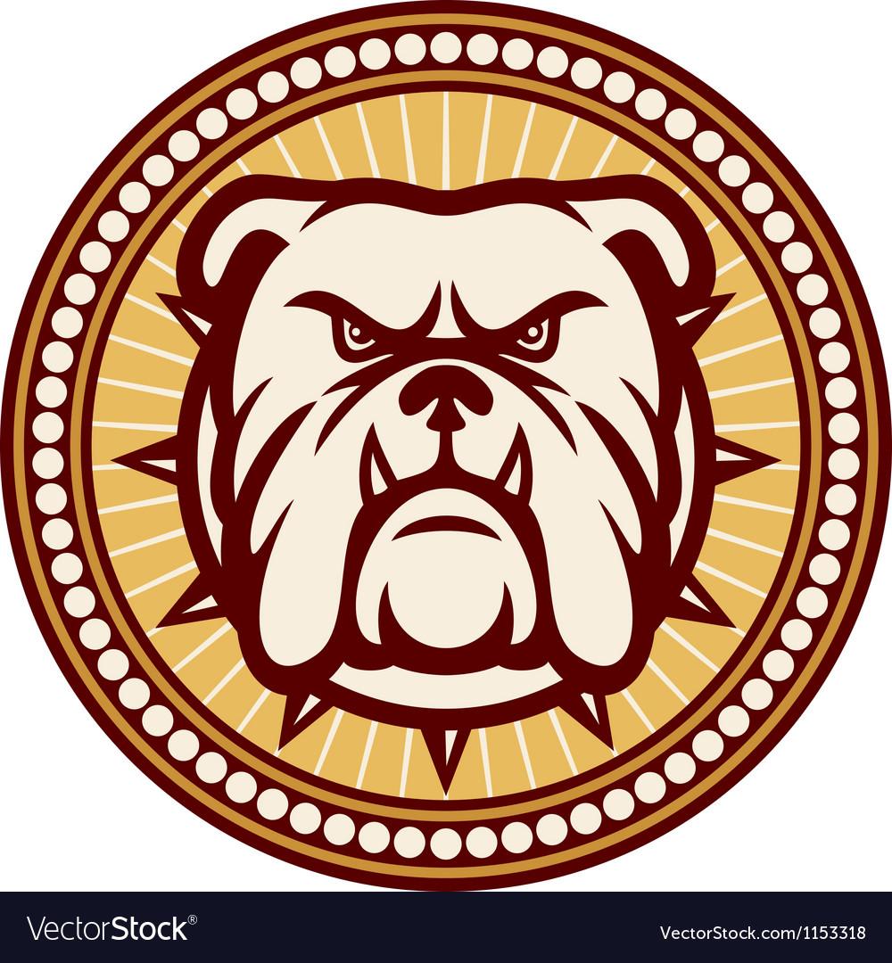 Angry bulldog head symbol