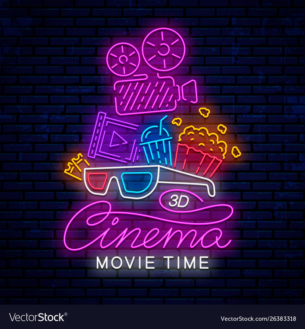 Cinema neon ready sign