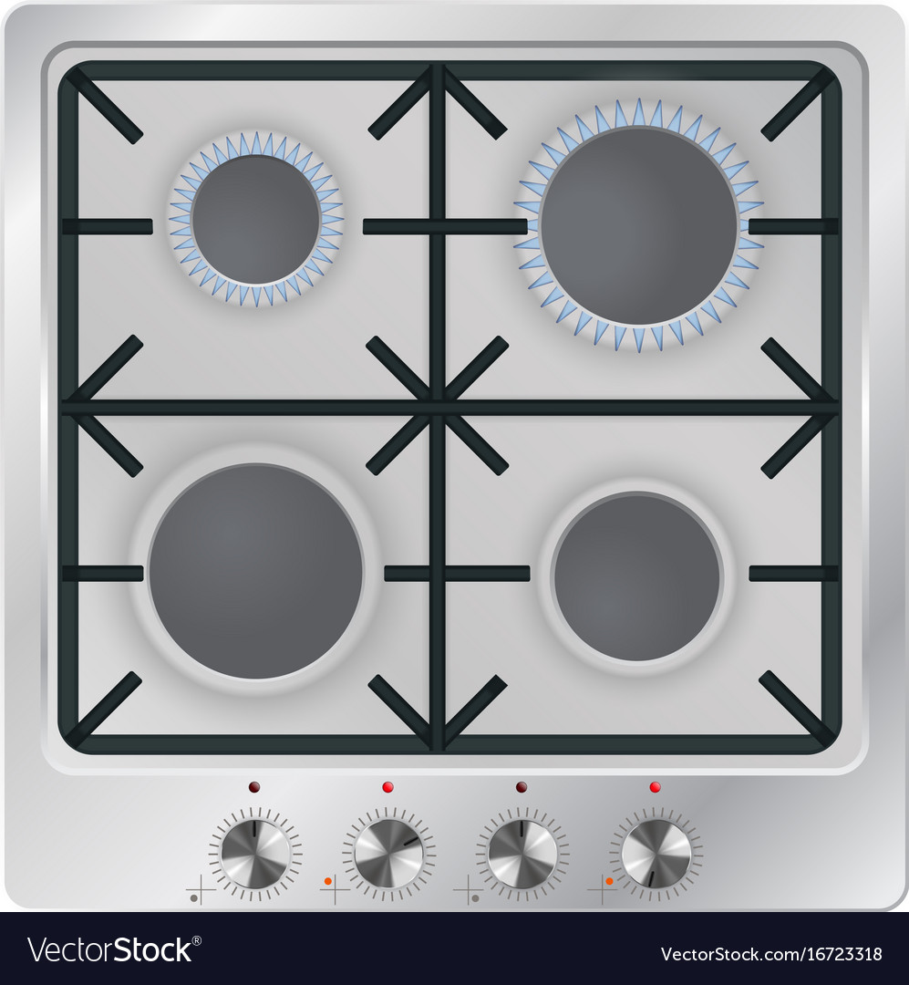 Gas oven vector image