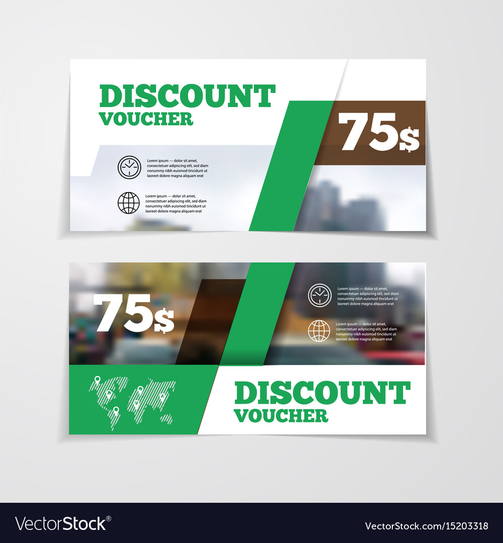 Gift or discount voucher template