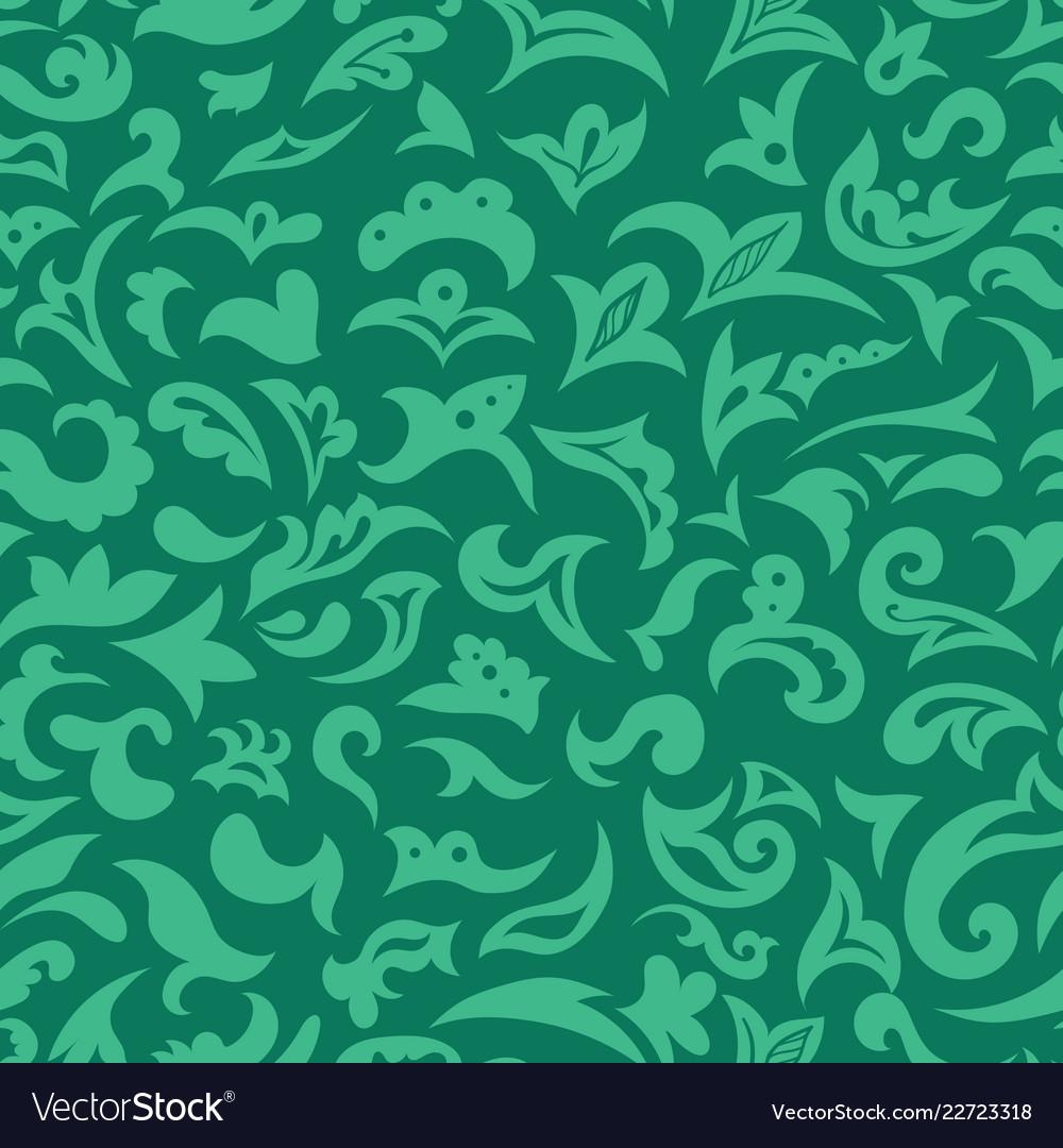 Green arabic islamic seamless pattern