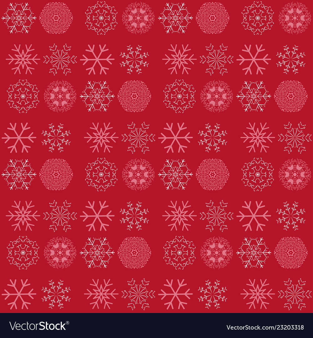 Seamless pattern with snowflakes winter