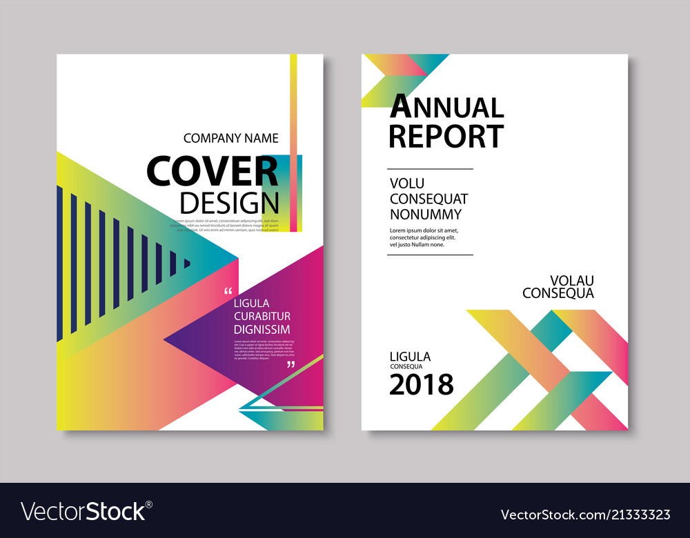 Abstract gradient modern geometric flyer and poste