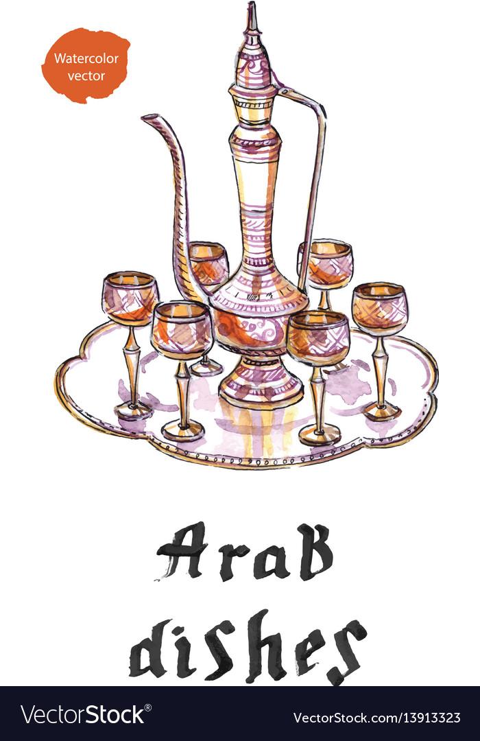 Arab silver dishes