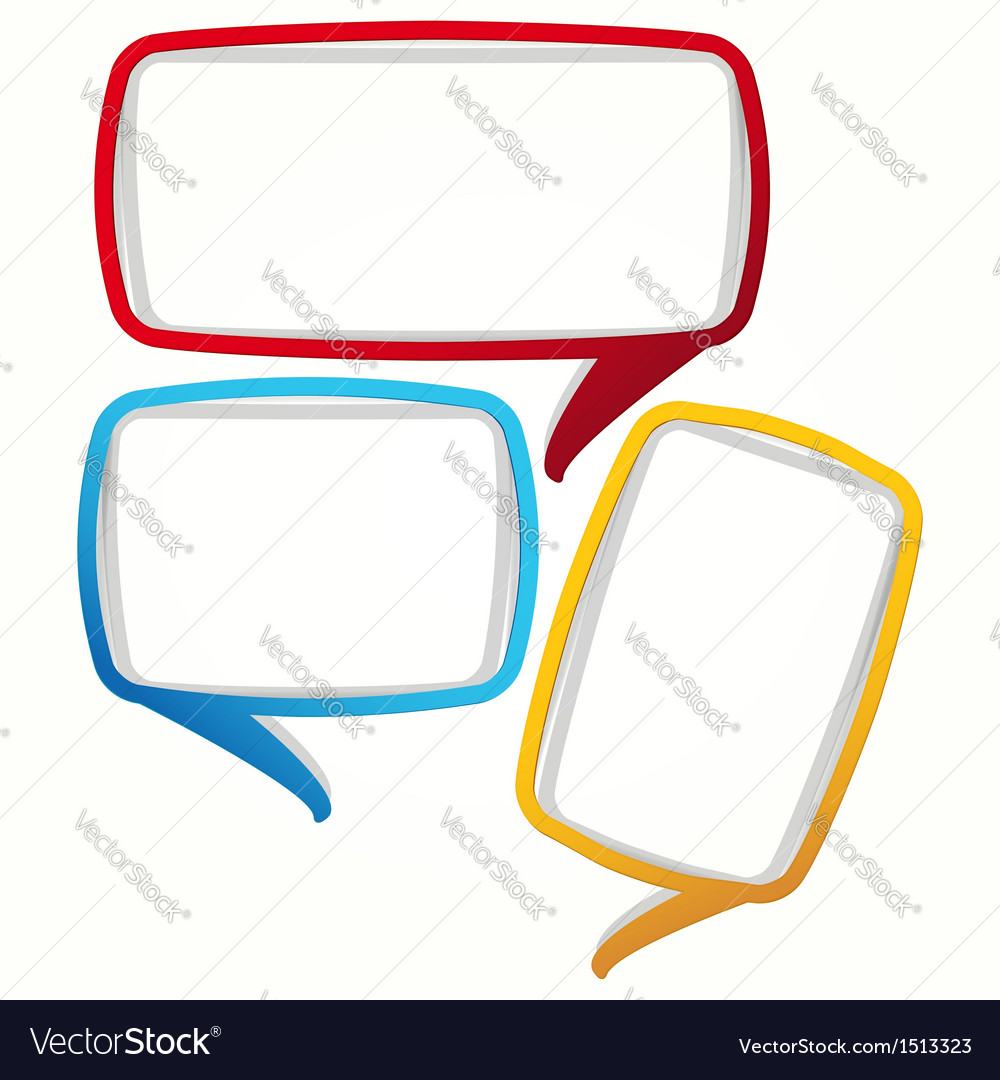 colorful speech bubble frames royalty free vector image