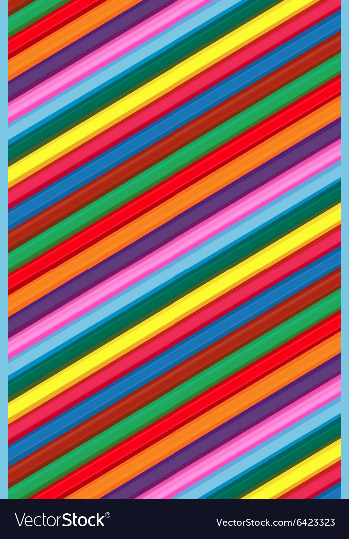 Coloured wood pencils background for childrens vector image