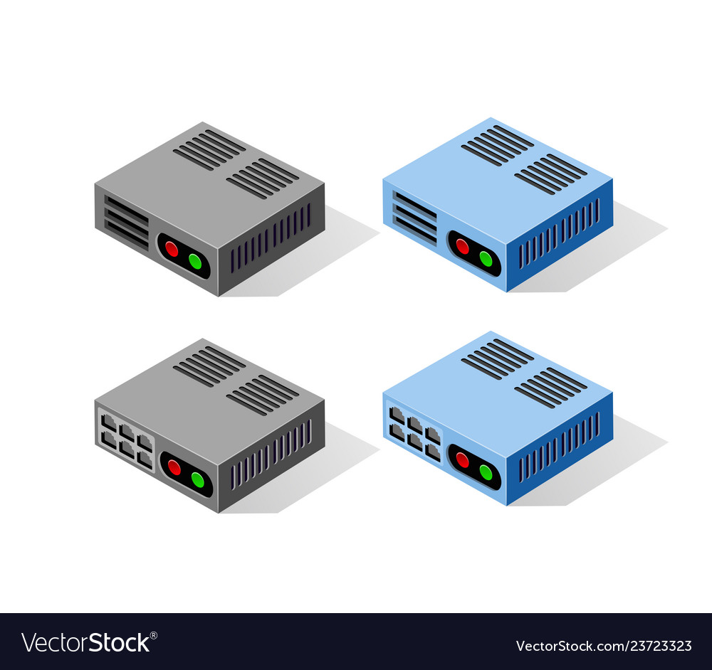 Computer power server vector