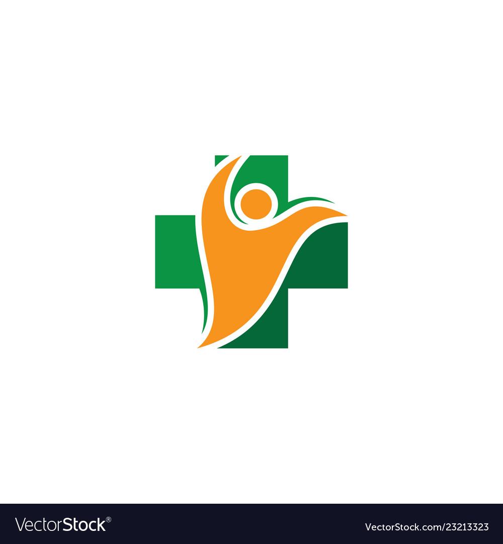 Plus people medical logo