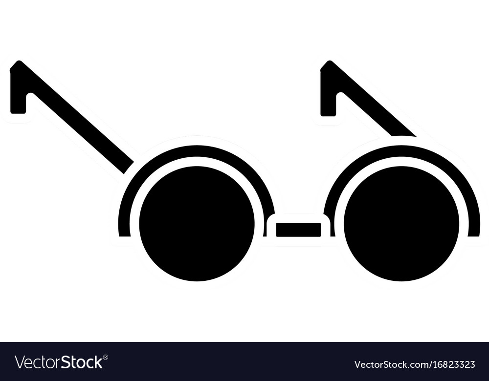 c570e67b637a Round eyeglasses frame fashion old style Vector Image