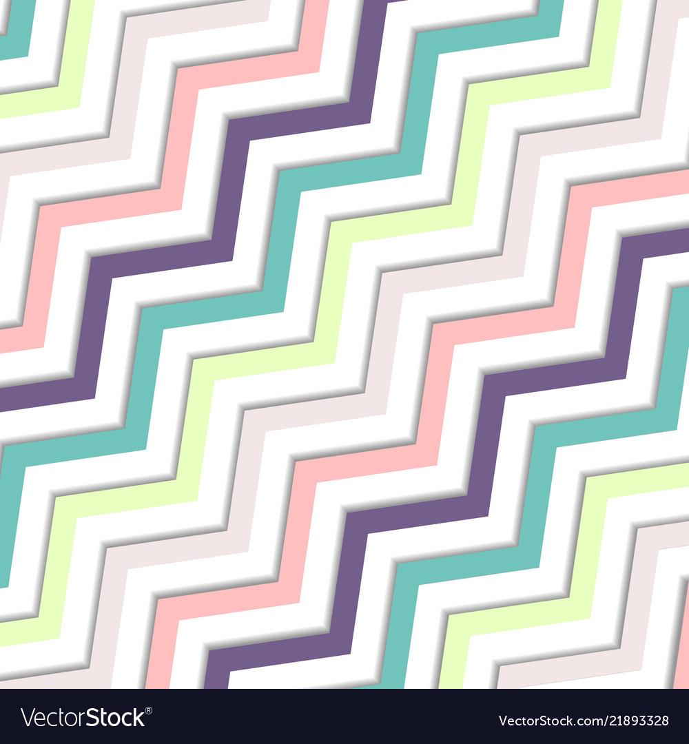 Abstract oblique wavy zigzag pastels color