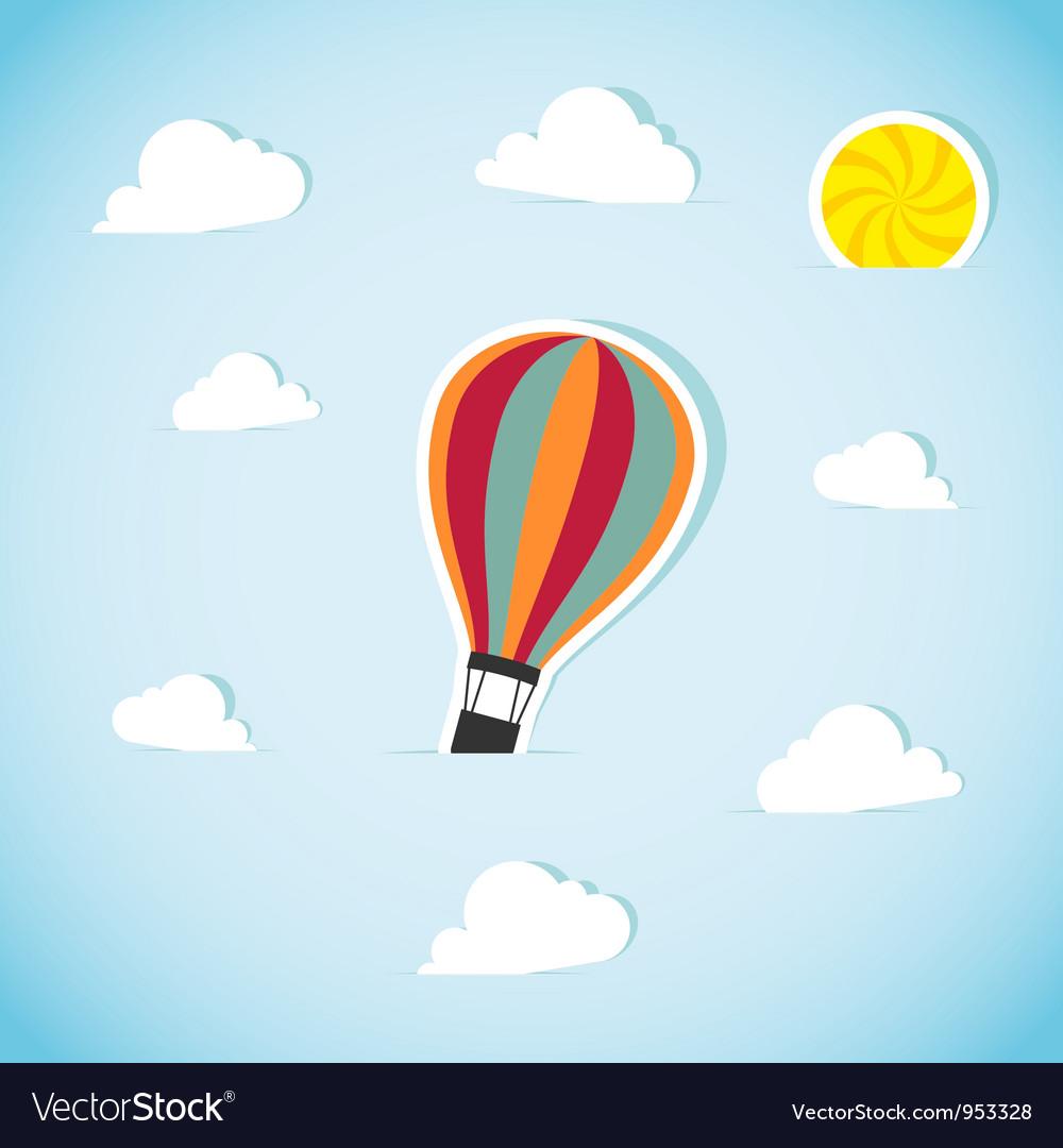 Abstract paper air balloon