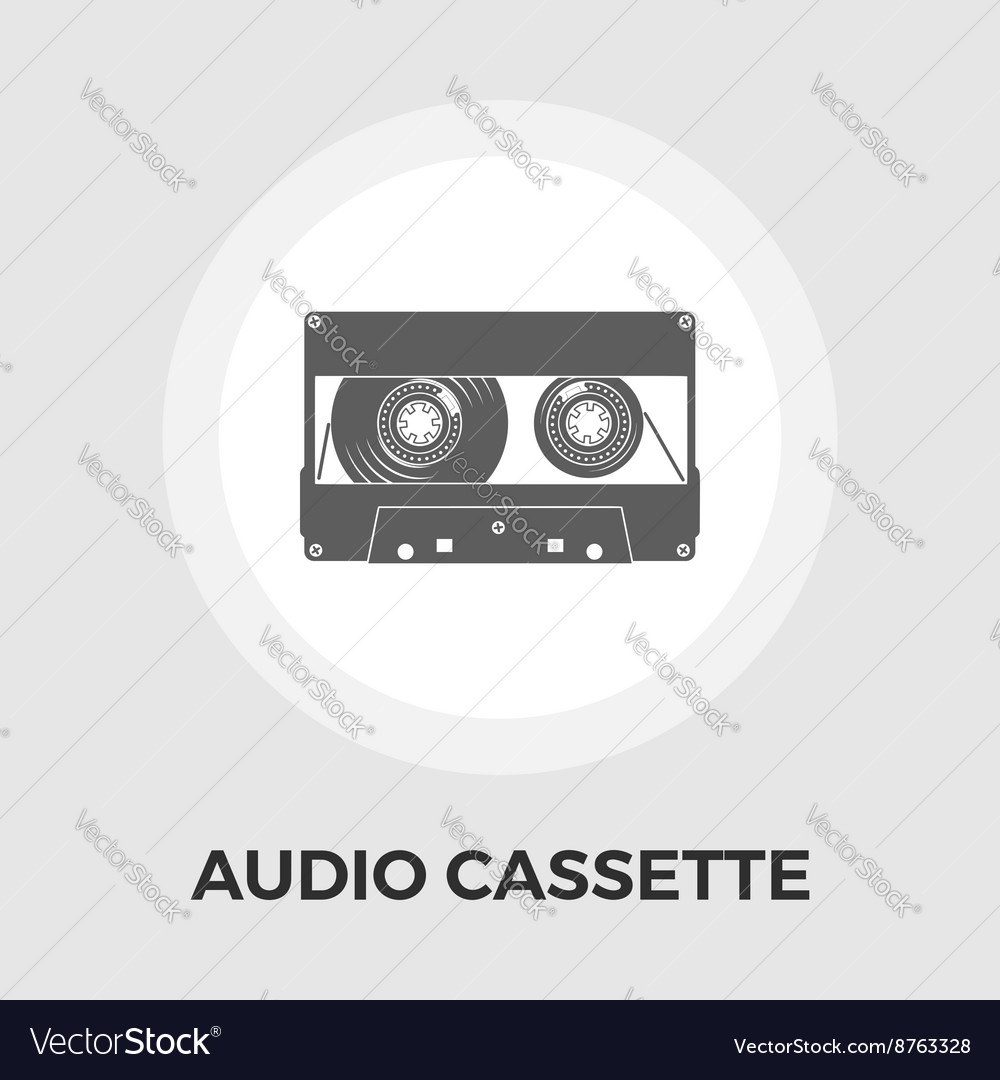 Audiocassette single icon