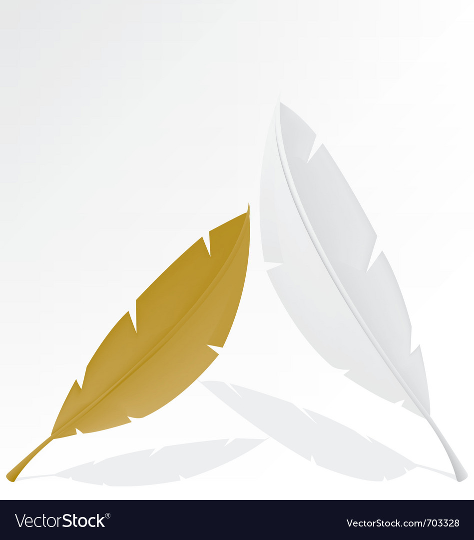 Feather gold and white