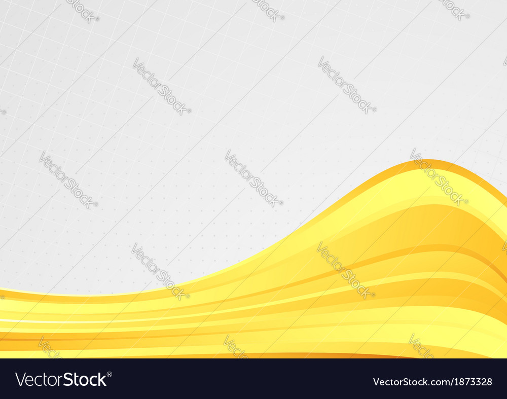Golden wave abstract background template