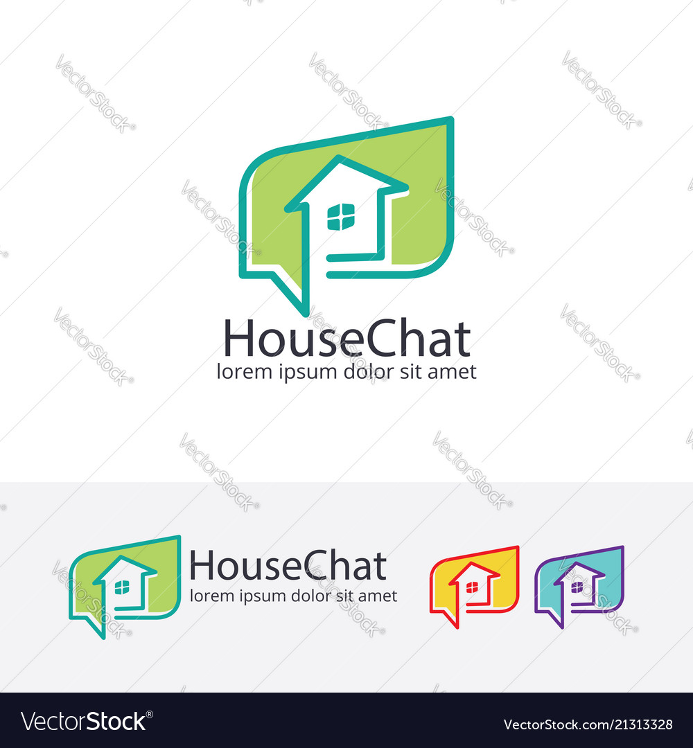 House chat logo design