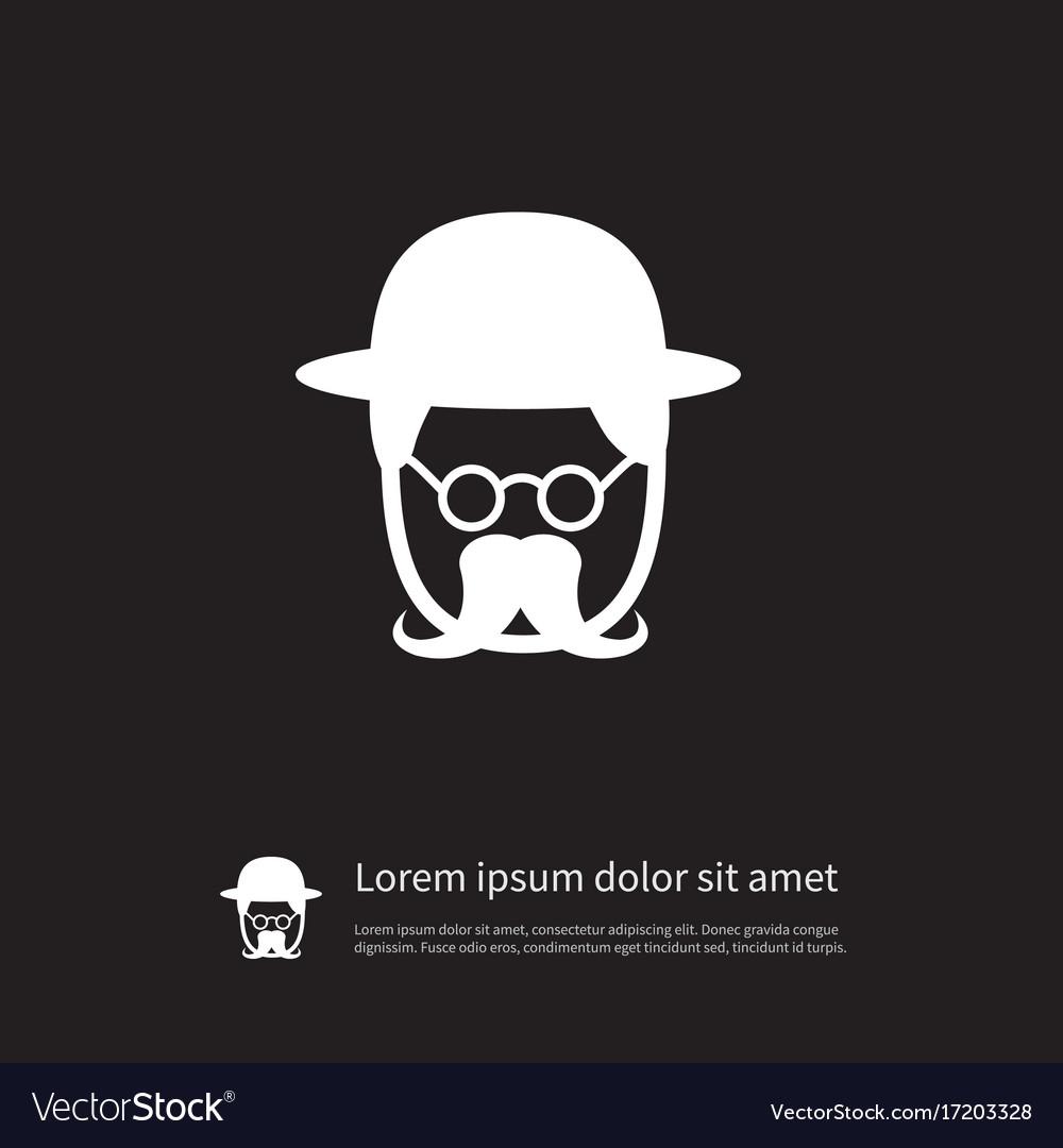 Isolated investigator icon detective vector image