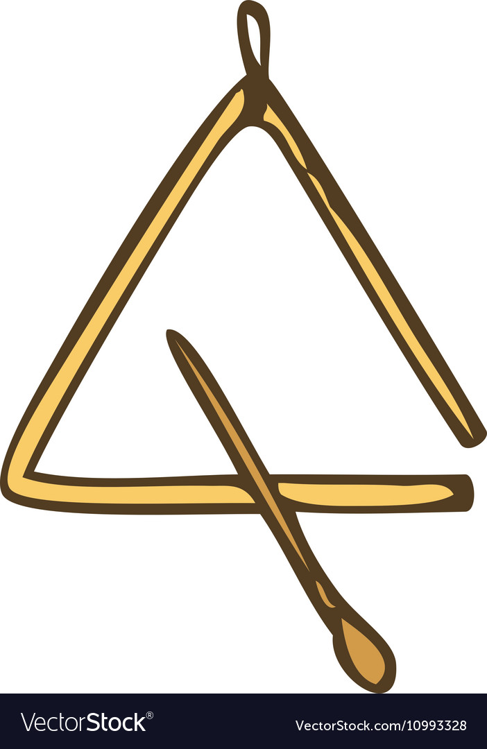 Music Instrument Triangle vector image