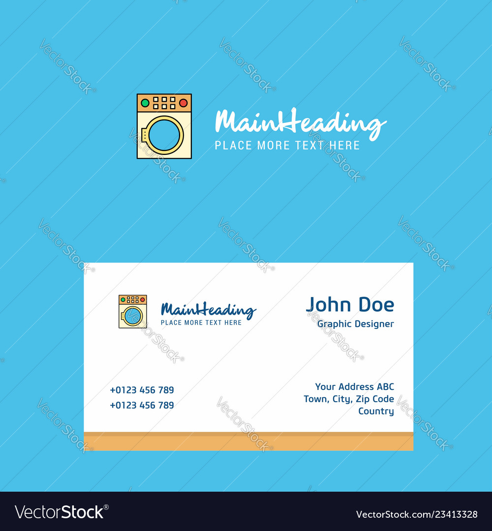 Washing machine logo design with business card