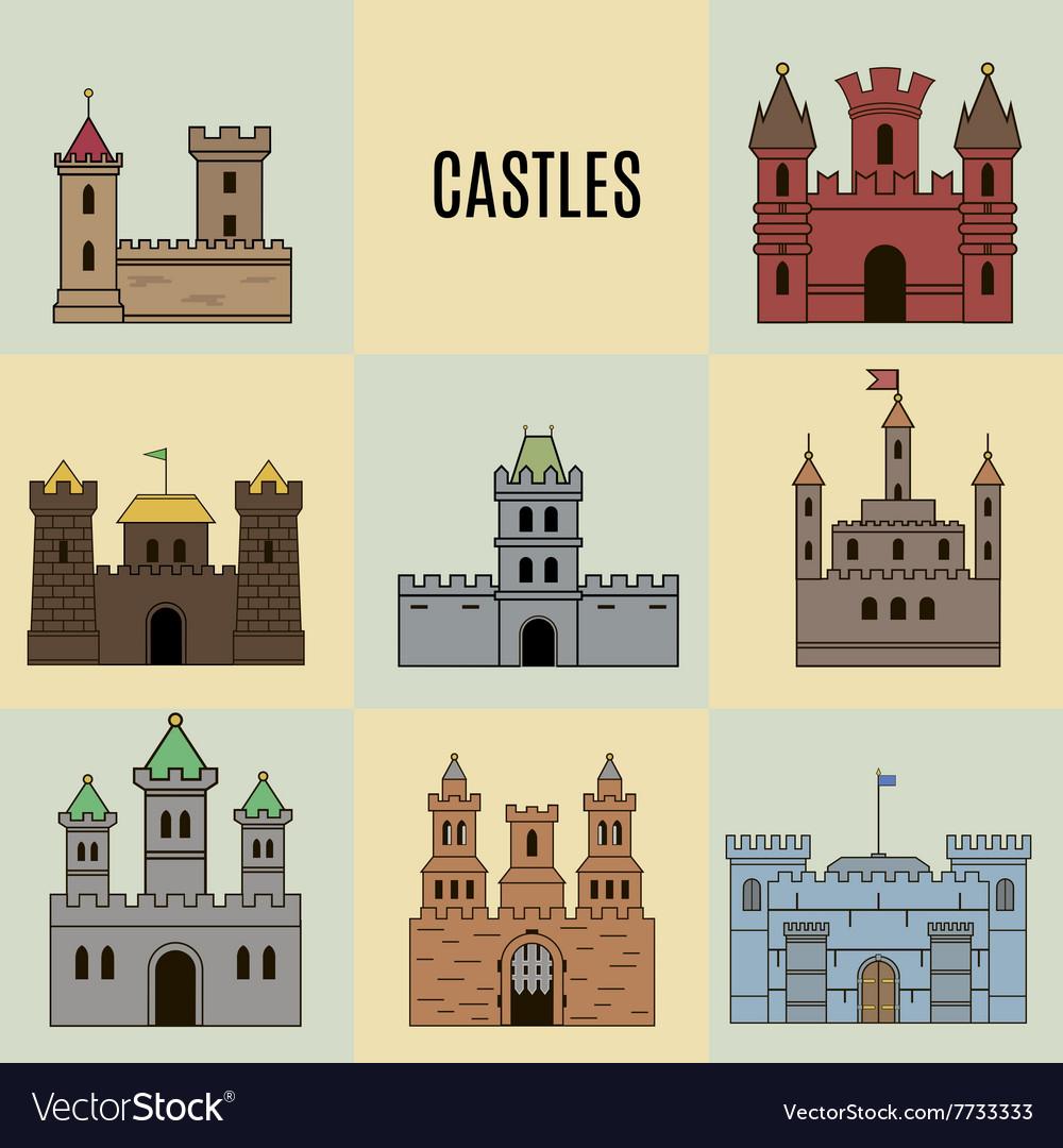 Castles vector image